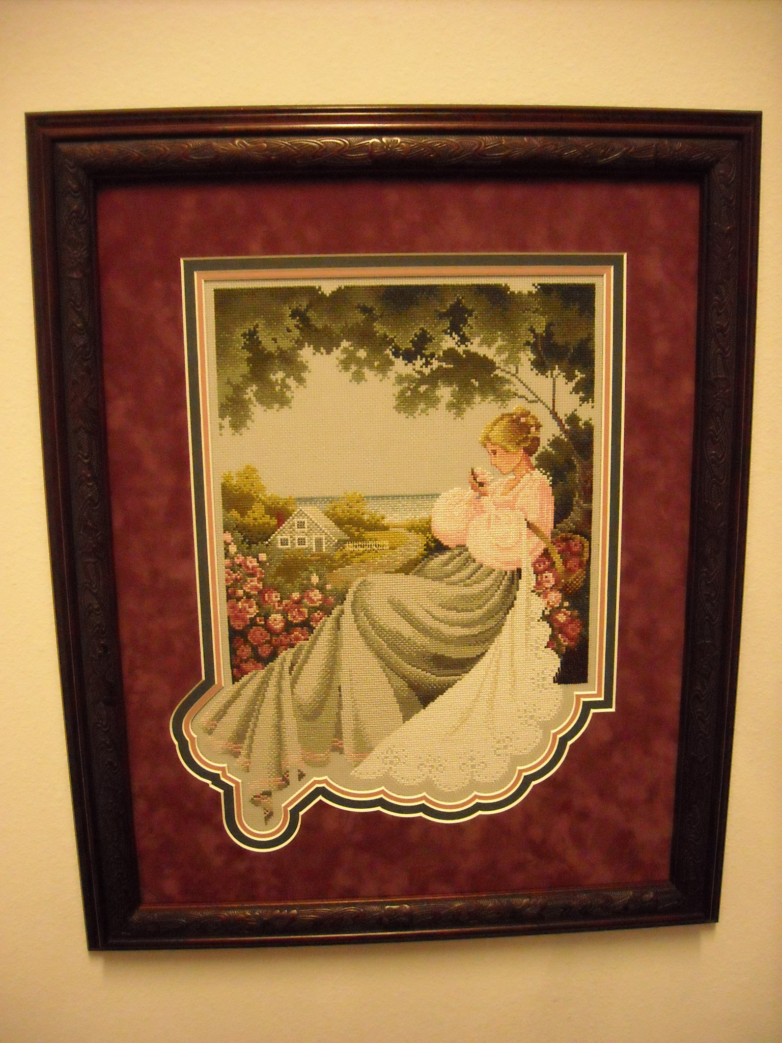 Needlework and custom matting